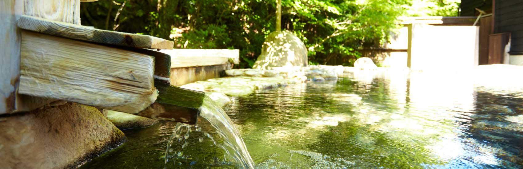 和華の料理には地元白浜温泉「長生の湯」を使用しています